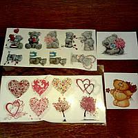 Картинки на водорастворимой бумаге для мыла-《открытки》 《14 февраля》 (отдельно не продаются)