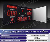 Светодиодное спортивное табло универсальное футбол, баскетбол, волейбол LED-ART-Sport-2000х1000-2212