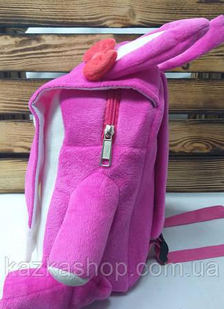 """Детский плюшевый рюкзак розового цвета """"Котик"""", регулируемые лямки, фото 2"""