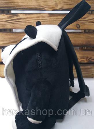 """Детский плюшевый рюкзак черного цвета """"Панда"""", регулируемые лямки, фото 2"""