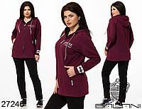 Женский спортивный костюм с удлиненной кофтой Двунитка Размер 48 50 52 54 56 В наличии 3 цвета, фото 1