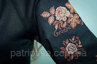 Жіноча вишиванка чорна | Жіноча вишиванка чорна, фото 3