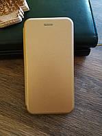 Чехол книжка для Samsung J6 Plus 2018 J610 цвет Золотой
