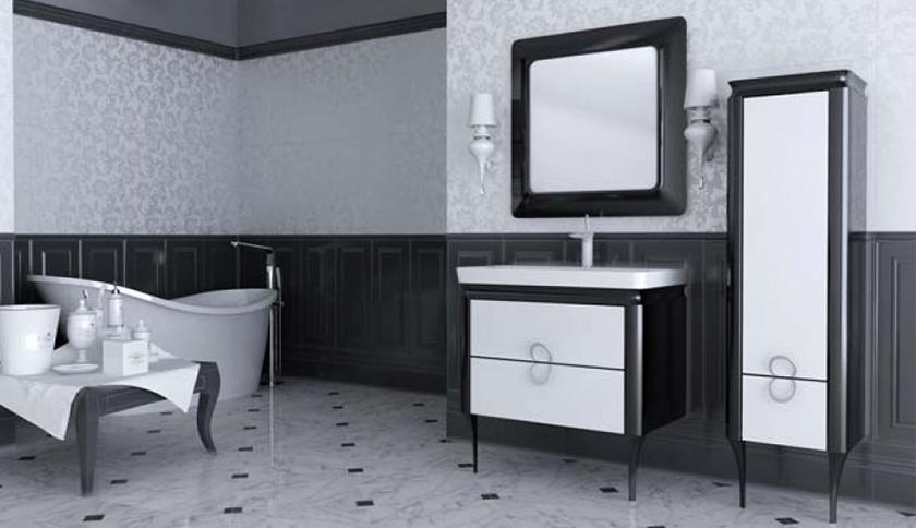 Банер мебели для ванных комнат Ювента (артикул товара: TcM-80-black)