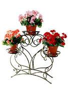 Кованные подставки для цветов на 2 - 5 вазонов