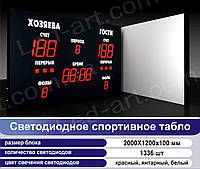 Светодиодное спортивное табло универсальное футбол, баскетбол, волейбол LED-ART-Sport-2000х1200-1336