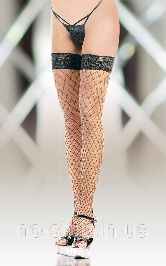 Чулки - Stockings 5520, Plus Size, black