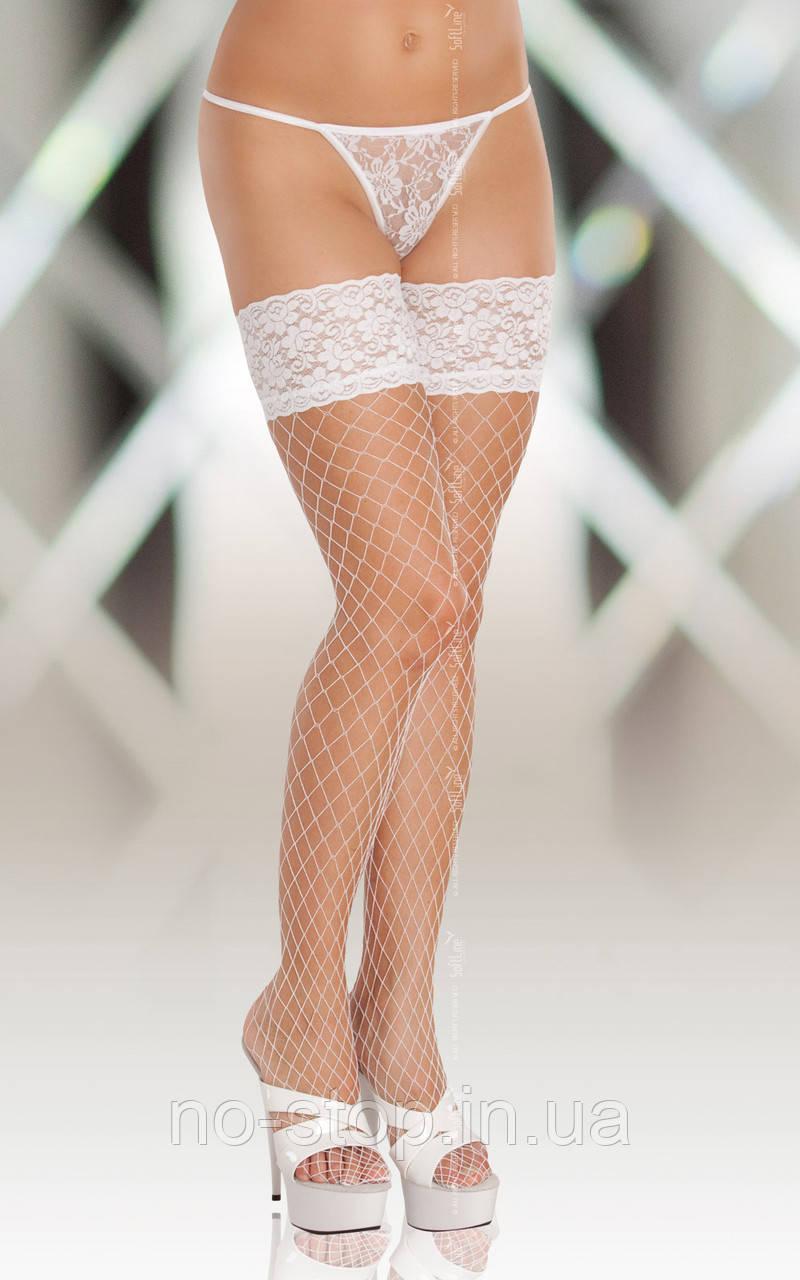 Чулки - Stockings 5520, Plus Size,  white
