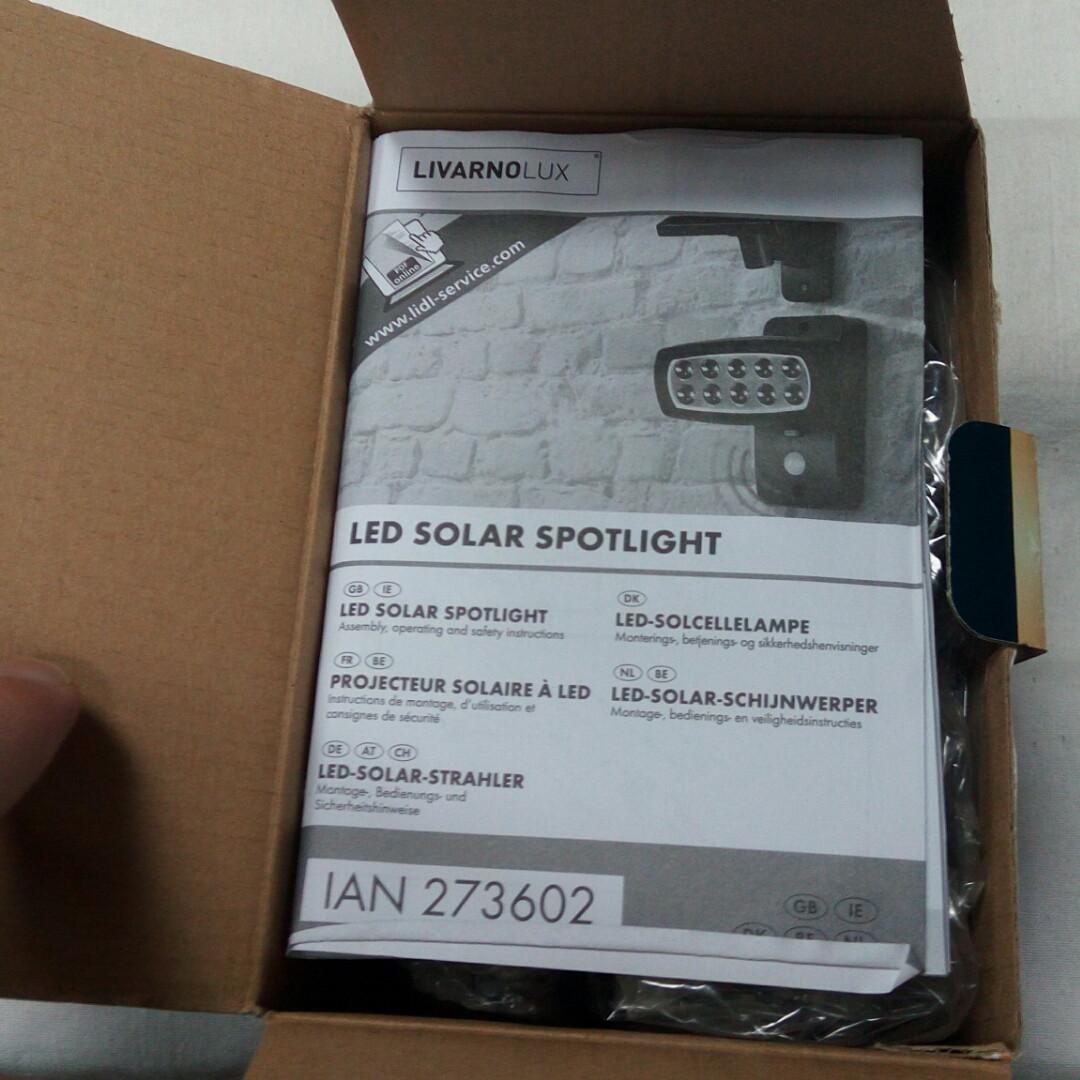 солнечный прожектор Livarno Lux Led Solar Spotlight привезено из германии