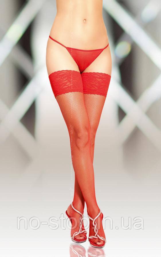 Чулки - Stockings 5537, red