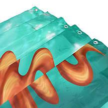 Шторка для ванни і душа Alaza 180х150 металеві люверси бірюзова, фото 3