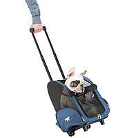 Ferplast Trolley сумка - тележка для перевозки мелких кошек и собак 44*37*60см