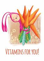 """Весняна листівка """"Вітаміни для тебе"""""""