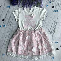 Летнее платье на девочку Breeze 12-1/32. Размеры  98 см, 104 см, 110 см, 116 см, 128 см, фото 1
