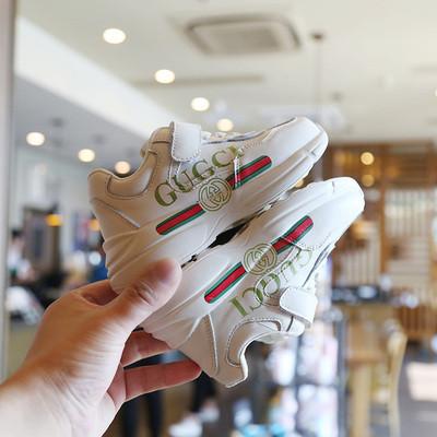 Дитячі шкіряні кросівки білі