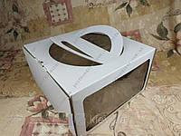 Коробки для тортов с ручкой и двумя Окнами