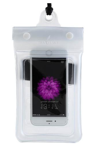 Чохол водонепроникний для мобільних телефонів TRAVELSKY з ремінцем 20.5*10см Білий (SUN3481)