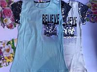 Летняя футболка для девочек от 10 до 14 лет., фото 1