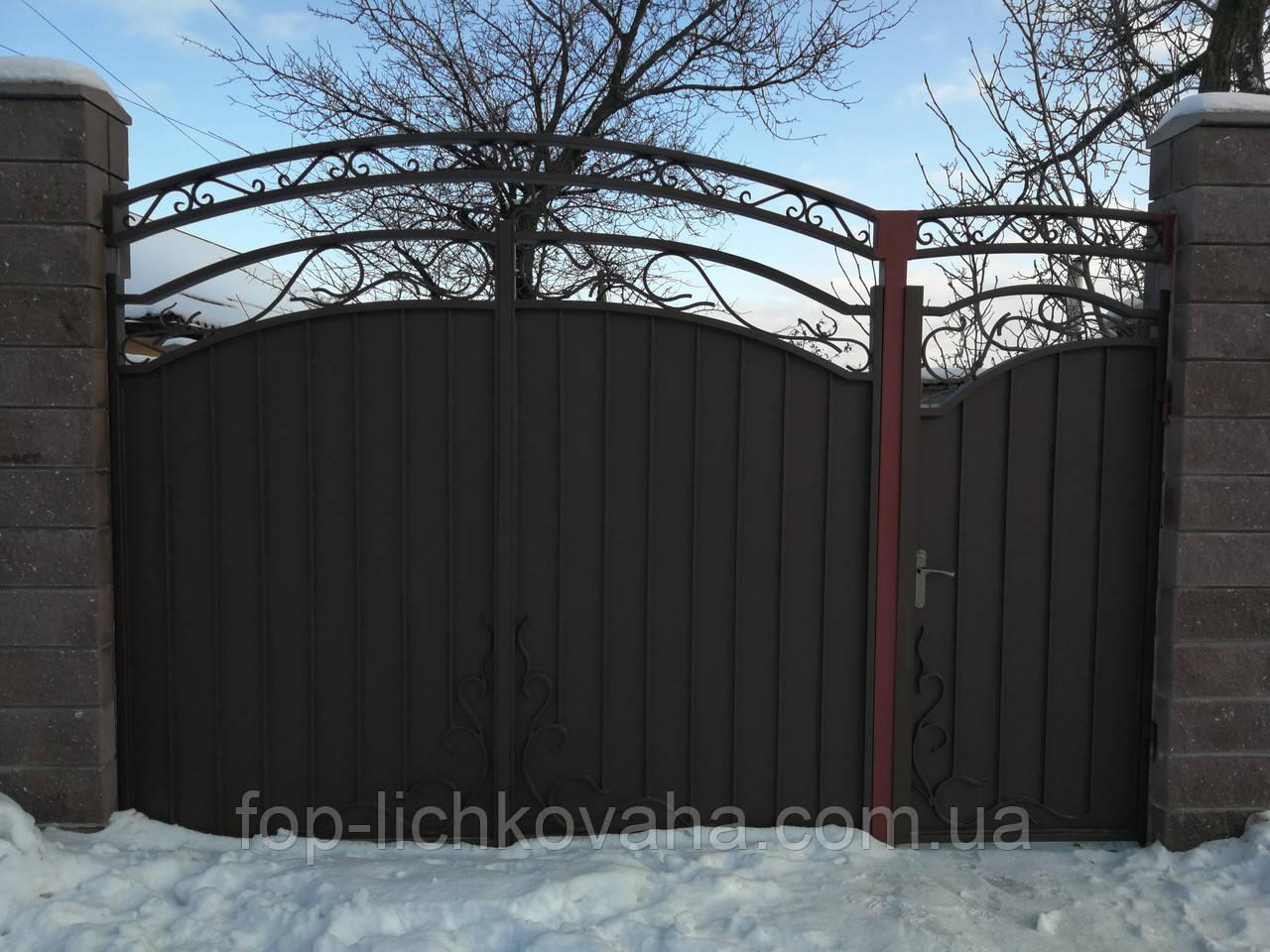 Ворота металлические кованые