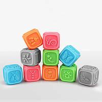 Развивающие силиконовые кубики 10 шт