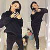 Женский спортивный велюровый костюм черный
