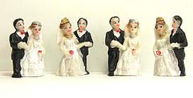 """Фигурки """"Жених и Невеста"""". Высота- 3,7 см."""