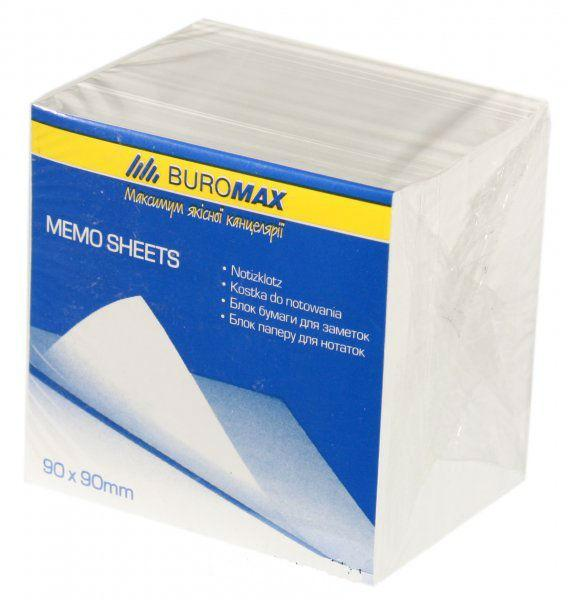 Блок белой бумаги JOBMAX для заметок 90х90х70мм., не склеенный