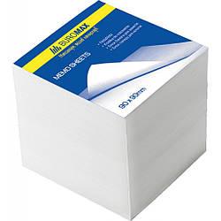 Блок белой бумаги для заметок BuroMax 90х90х90мм., не склеенный