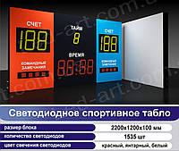 Светодиодное спортивное табло универсальное борьба LED-ART-Sport-2200х1200-1535