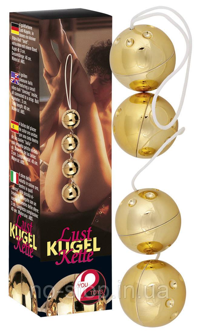 Вагинальные шарики - Orgasmuskugeln Gold 4er-Set