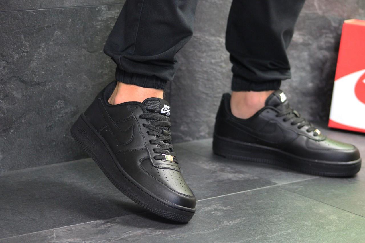 5fdc9065 Демисезонные кроссовки Nike Air Force 7306 черные - Интернет-магазин