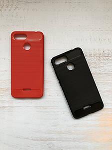 Чехол - накладка Carbon (карбон)  для Xiaomi Redmi 6