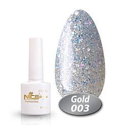Гель лак nice for you cool gold № 3