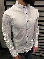 Рубашка мужская белая СТИЛЬНАЯ весна лето рубашка белая черная