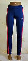 Спортивные женские штаны Adidas копия с лампасами,  размер 44,46,48,50