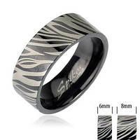 Кольцо зебра Spikes