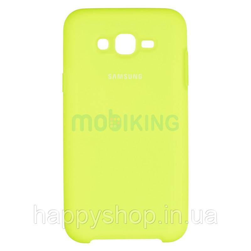 Оригінальний чохол Soft touch для Samsung Galaxy J7 2015 (J700) Lime