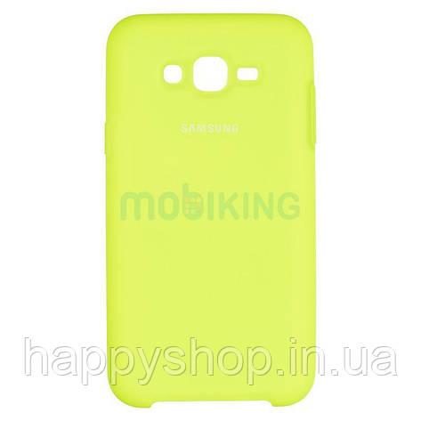 Оригінальний чохол Soft touch для Samsung Galaxy J7 2015 (J700) Lime, фото 2