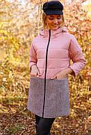 Женское демисезонное полупальто Саванна большие размеры