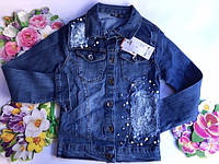 Джинсовая куртка  для девочек от 8 до 12 лет