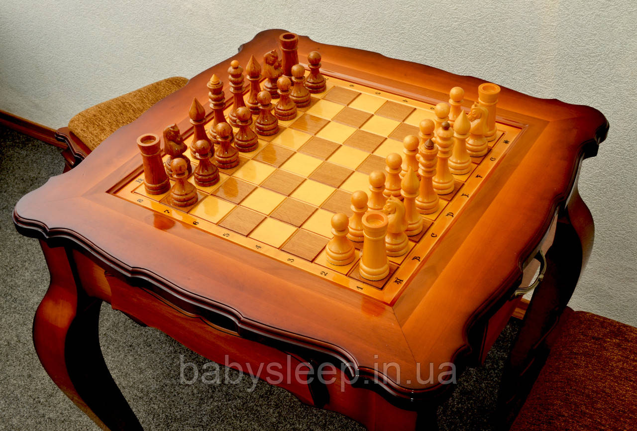Стол шахматный «Дубовый». Доставка по всей Украине