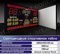 Светодиодное спортивное табло универсальное футбол, баскетбол LED-ART-Sport-2500х1400-4732