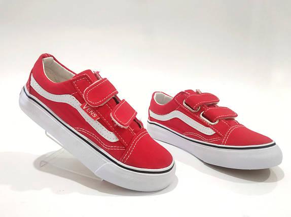 8d9ca33d75fd04 Кеды 🔴красные🔴 В стиле Vans размеры 26 - 30 Унисекс Vens Красные летние  детские