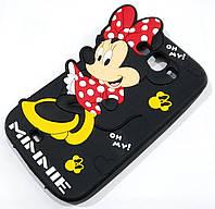 Чехол детский для Samsung Galaxy Grand duos i9082 / Neo i9060 силиконовый объемный игрушка Минни Маус черный