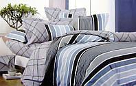 Комплект семейного постельного белья с мако-сатина Полоса
