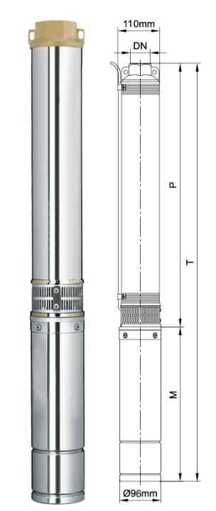 Погружной скважинный насос Aquatica 4SEm2/5 (777441)