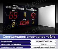 Светодиодное спортивное табло универсальное футбол, баскетбол LED-ART-Sport-3000х1500-2402