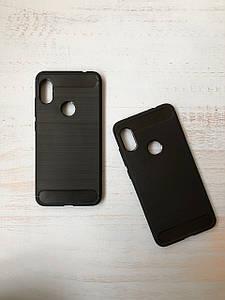 Чехол - накладка Carbon (карбон) для Xiaomi Redmi note 6 pro