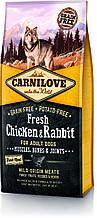 CARNILOVE FRESH CHICKEN & RABBIT 12 kg для взрослых собак с курицей и кроликом