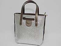 Сумка Zara цвет серебро-бронза, фото 1